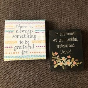 Grateful and Blessed Canvas Prints